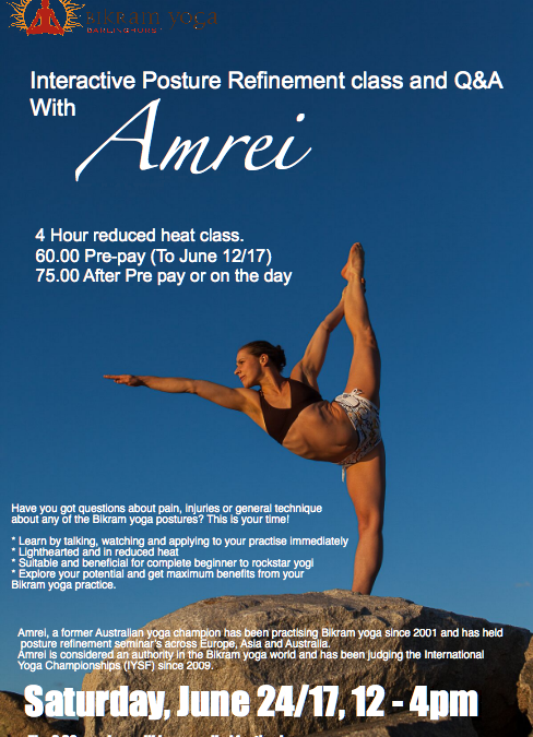 An Interactive Posture refinement class and Q&A with Amrei