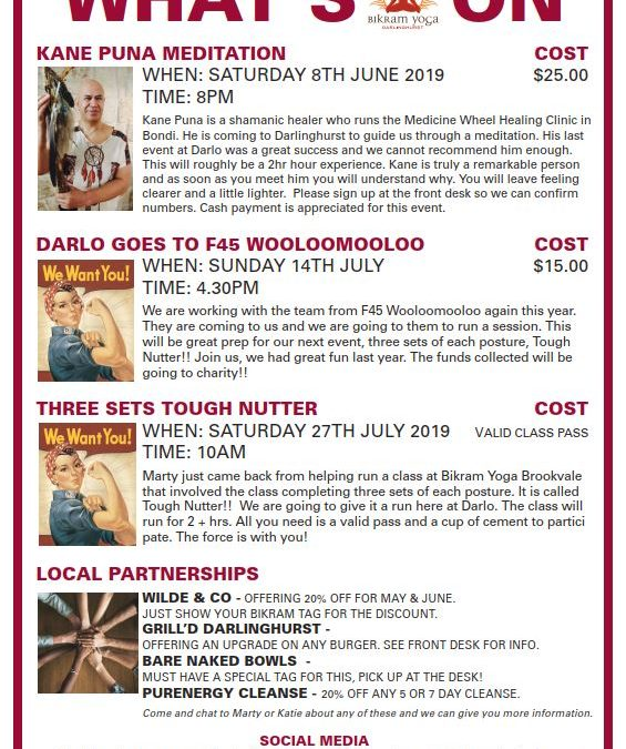 Whats On At Darlo June/July